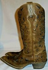 LAREDO, LADIES BROWN LEATHER WESTERN PULL ON BOOT, SIZE  7 M