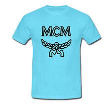 MCM LOGO # 2 T Shirt Sz: S,M,L,XL2XL Aqua