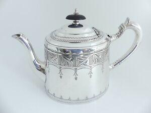 """♛ Schöne englische Teekanne """"Walker & Hall"""" - Sheffield 1932 - versilbert - ♛"""