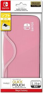 Official Licensed QUICK POUCH Case for Nintendo Switch Lite Pink JAPAN IMPORT