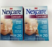2x Nexcare Opticlude Orthoptic Eye Patches, Junior Size, 20-Count Each