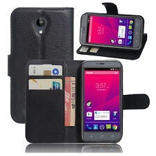 Leather Case Cover For ZTE Blade A462 Skinny A462/ Telstra 4GX Plus/ Spark Plus