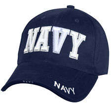 Baseball Hat USN US Navy Military Ball Cap Hat Blue 3 d Embroidery Rothco 9393