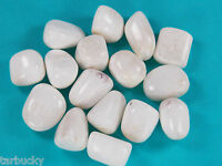 1 SCOLECITE Tumbled HEALING Crystal Rock Stone with pouch  Large 14 grams
