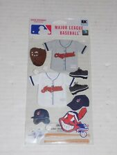 New in Package MLB Scrapbooking Sticker Set Cleveland Indians