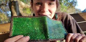 NEW Authentic SNAKE GREEN BOA Wallet bi-Fold Men Billfold Original Slim Pocket