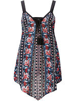 Joe Browns ladies top blouse plus size 18 20 22 26 navy floral 'our favourite'
