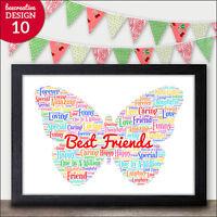 Personalised Special Best Friend Friends Gift Plaque Birthday Friendship