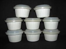 Tupperware Ultra 21 Set of 8 Almond Ramekin 6 oz Custard Cups witth Seals #1922