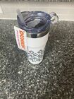 Dunkin 24oz Tumbler Cup Travel Mug Insulated White Coffee Hot Cold