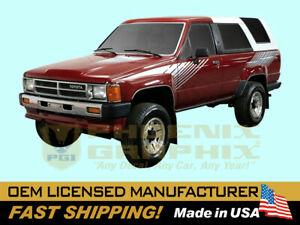 1984 1985 1986 1987 1988 1989 Toyota SR5 4Runner Truck Graphic Decal Stripes Kit