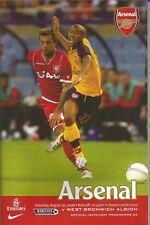 Football Programme - Arsenal v WBA - Premiership - 16/8/2008