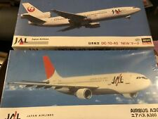 ******* 2 sealed Hasegawa 1:200 scale JAL Japan Airlines DC-10-40 & Airbus A300