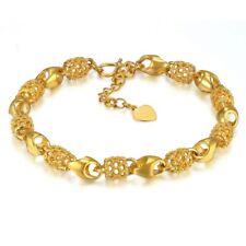 18k Gold Plated Bracelet- 18 4cm Adjustable Link Chain Women Bracelets Gift Bag