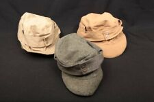3x Wwii German Army Military Uniform Wool Cotton Unbranded M43 Field Caps Hats
