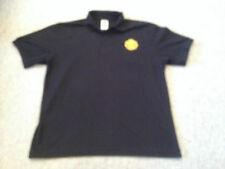 Manchester United Buttoned Short Sleeved Polo Top Black Adult Medium (K)
