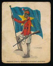 1915 T105 Zira Cigarettes -STANDARD BEARERS -Congo *Tier 3-RARE*