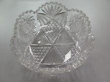 Antique American Brilliant Period Cut Crysta Star Ice Cream Serving Bowl ABP