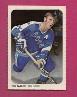 RARE 1973-74 WHA QUAKER OATES AEROS TED TAYLOR EX-MT MINI CARD (INV#1359)