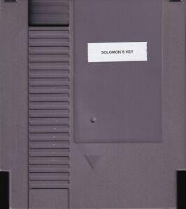 SOLOMON'S KEY (1987) nes nintendo no label solomons tecmo arcade NTSC USA IMPORT