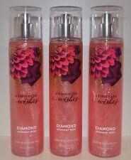 3 Bath & Body Works A Thousand Wishes Diamond Shimmer Mist Fragrance Spray Lot