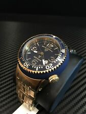 Swiss Legend Men's Neptune Stainless Steel Gold With Blue  Dial Watch