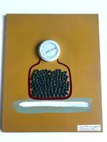 Maria Vera Chiari - Barattolo di capperi - Tecnica mista su pannello di legno