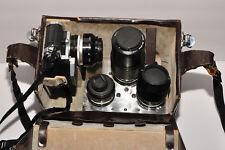 VNTG NIKON F OUTFIT w camera 50- 1:1.4, 24- 1:2.8, 105 1:2.5 +zoom & custom case