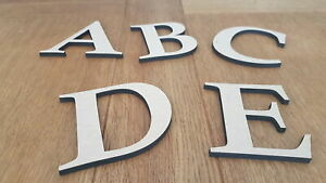 Wooden Letters Large Small  3cm60cm 6mm Thick MDF Craft Extra Large Signs Home