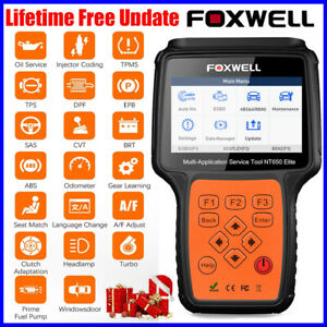 Foxwell NT650 Elite EPB TPMS SAS DPF Reset ABS SRS Tool OBD2 Car Diagnostic Tool