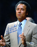 LENNY WILKENS SIGNED 8x10 PHOTO + HOF + 1979 CHAMPIONS SUPERSONICS BECKETT BAS