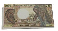 Billet 5000 Francs Tchad - Ancienne Colonie Française