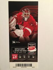 DETROIT RED WINGS VS BUFFALO SABRES FEBRUARY 22, 2018 TICKET STUB