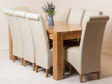 Medium Oak Dining Table and Chairs Kuba and Montana Fabric or Leather