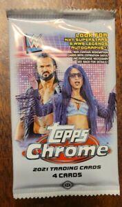 2021 Topps CHROME WWE Wrestling Hobby  Pack FACTORY SEALED!