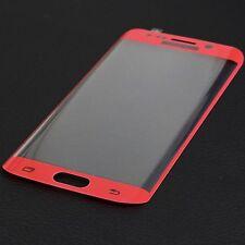 3D Schutz Glas Protector Samsung Galaxy S6 EDGE CURVED FULL SCREEN Folie Rot