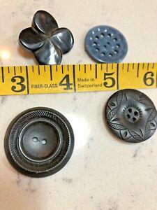 Vintage Large Button Lot Of 4 Plastic 1930s