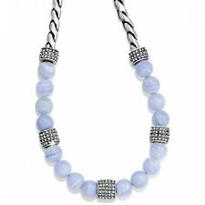 NWT Brighton MERIDIAN Blue Agate Swarovski Crystals Necklace  MSRP $98