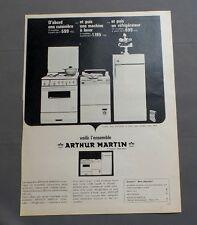 PUB PUBLICITE ANCIENNE ADVERT CLIPPING 010817 / ÉLECTROMÉNAGÉ ARTHUR MARTIN