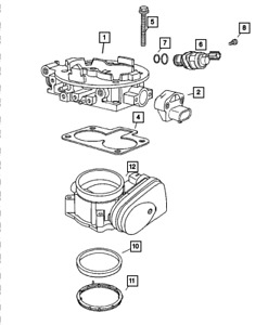 Genuine MOPAR Linear Iacv Solenoid 4861552AC