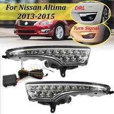 Pair LED Daytime Running Light Signal Lamp DRL For 2013-2015 Nissan Altima Teana