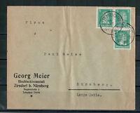 Deutsches Reich, Firmenbrief MiNr. 387 MeF Zirndorf nach Nürnberg 03.10.1928