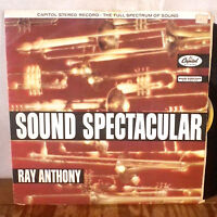 Ray Anthony Sound Spectacular LP Capitol UK Press rainbow stereo VG
