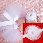 Newborn Baby Lace Rabbit skirt Headband set Costume Photo Photography Prop