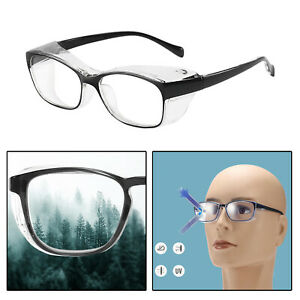 Safety Glasses with Clear Anti Fog HD Lenses No-Slip Grips For Men & Women