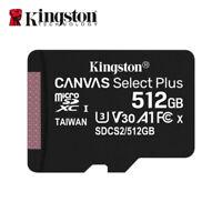 NEU Kingston 512GB MicroSD SDXC C10 UHS-I A1 Speicherkarte mit Adapter 100MB/s