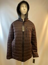 NWT Buffalo David Bitton Poly Burgundy Hooded Quilted Jacket Women's Size M