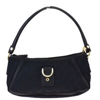 Authentic GUCCI GG Pattern Shoulder Bag Canvas Leather Black Italy 30MF360