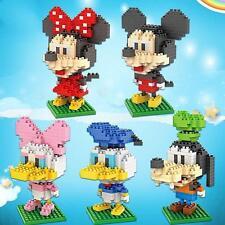 New Kids Building Bricks Toy Sets Mickey Minnie Goofy Daisy Nano Block Toys