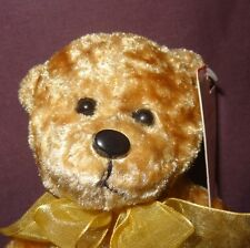 "Brown Teddy Bear Bow Plush Stuffed Animal 5"" Sitting Holiday Pick Ups"